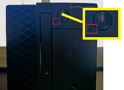 デスクトップの電源ボタン画像